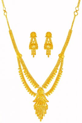 22KT Gold Light Necklace Set  ( Light Sets )