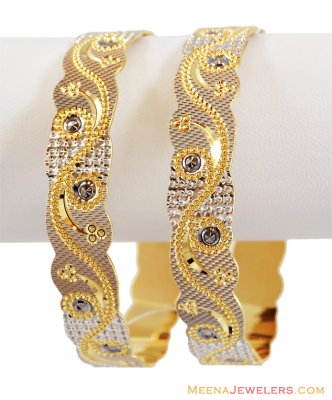 Laser Kada 22k Gold (1 Pc only) ( Two Tone Bangles )