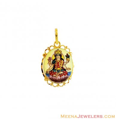 22k Laxmi Pendant In Gold ( Ganesh, Laxmi and other God Pendants )