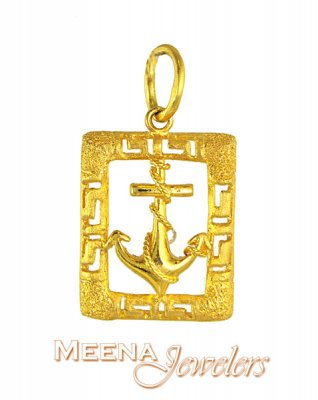 22 Kt Gold Anchor Pendant ( Fancy Pendants )