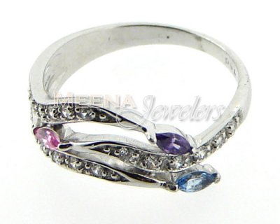 18 Kt White Gold Ladies Rings ( Ladies White Gold Rings )
