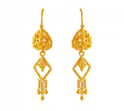22k Gold Earrings ( 22Kt Gold Fancy Earrings )