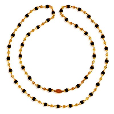 22 Karat Gold Brown Tulsi Mala ( 22Kt Long Chains (Ladies) )