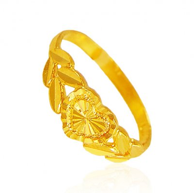 22K Gold Hearts Ring ( Ladies Gold Ring )