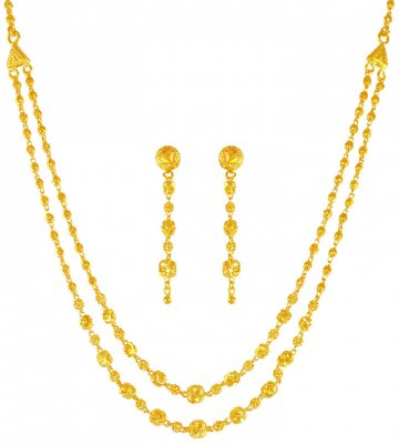 22K Gold Layered  Necklace Set  ( Light Sets )