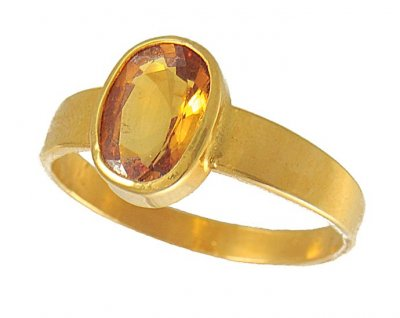 22K Yellow Sapphire Ring (Custom) ( Astrological BirthStone Rings )