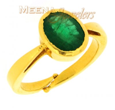 Birthstone Ring with Emerald (22kt Gold) ( Astrological BirthStone Rings )