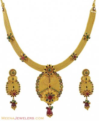 22k Designer Necklace Set ( 22 Kt Gold Sets )