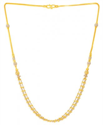 22kt Gold Fancy Two Tone Chain ( 22Kt Gold Fancy Chains )