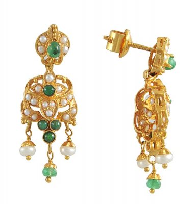 22Kt Gold Earrings ( 22Kt Gold Fancy Earrings )