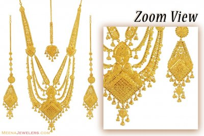 22K Indian Bridal Necklace set ( Bridal Necklace Sets )