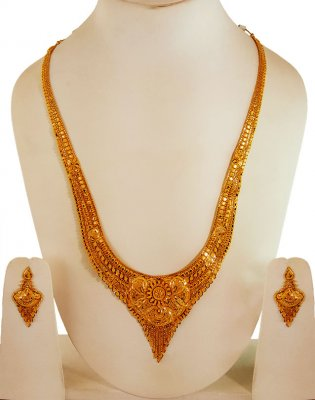 22k Yellow Gold Indian Necklace ( 22 Kt Gold Sets )