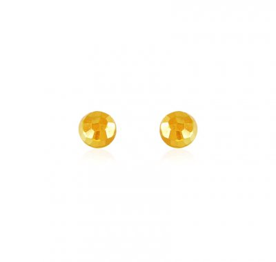22K Gold Kids Earrings ( 22 Kt Gold Tops )
