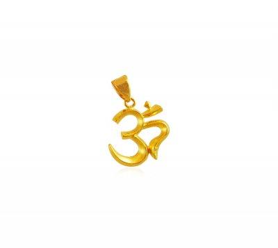 22k gold om pendant peom18361 22k gold om pendant designed with 22k gold om pendant aloadofball Gallery