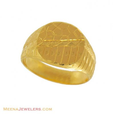 22k Exquisite Ring (Mens) ( Mens Gold Ring )