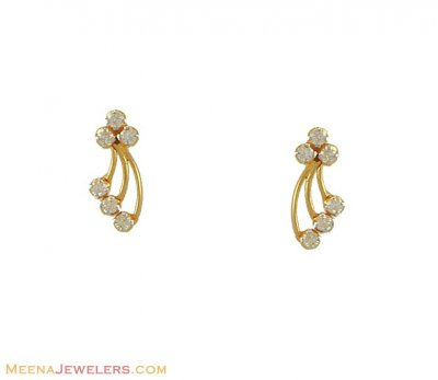18kt Genuine Diamond Earrings ( Diamond Earrings )