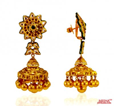 22kt Gold Exclusive Jhumki earrings ( 22Kt Gold Fancy Earrings )