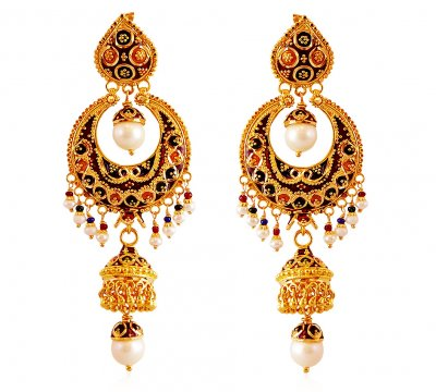 Pearl Chand Baali with Jhumki ( Exquisite Earrings )