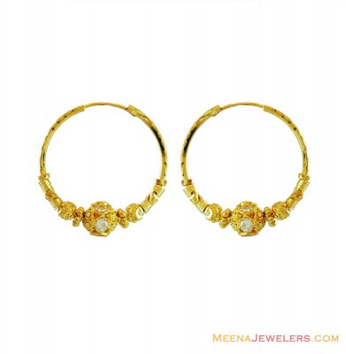 22K Indian Hoop Earrings ( Hoop Earrings )