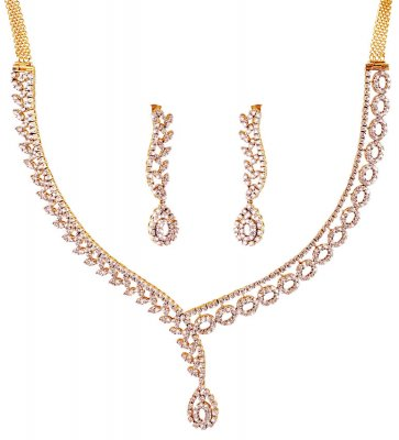 Exclusive Diamond 18K Necklace Set ( Diamond Necklace Sets )