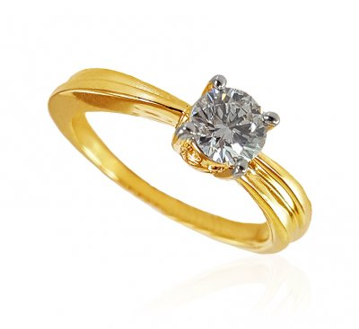 18kt Gold Diamond Ring  ( Diamond Rings )
