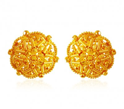 22kt Gold Earrings ( 22 Kt Gold Tops )