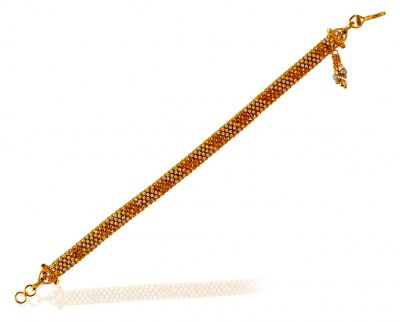 22 Karat Gold Two Tone Bracelet  ( Ladies Bracelets )