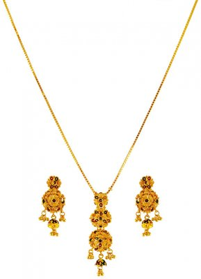 22KT Gold Meenakari Set ( Light Sets )