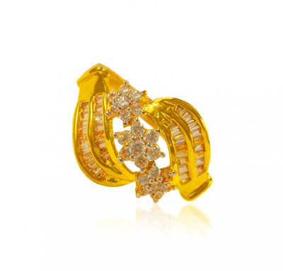 22k Gold Ring with stones ( Ladies Signity Rings )