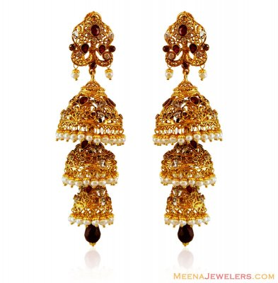 Traditional 22K Gold Jhumki ( Exquisite Earrings )