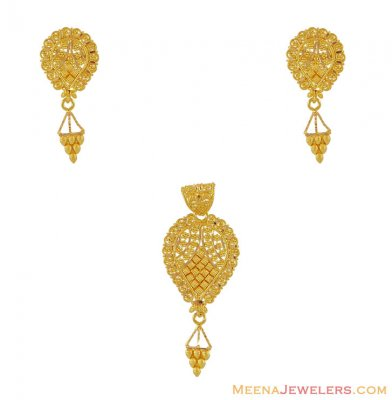22k Yellow Gold Pendant Sets ( Gold Pendant Sets )