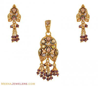 Gold Antique Pendant Set ( Antique Pendant Sets )
