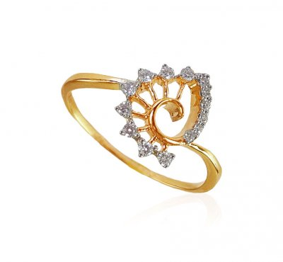 18K Gold Diamond Ring for Ladies ( Diamond Rings )