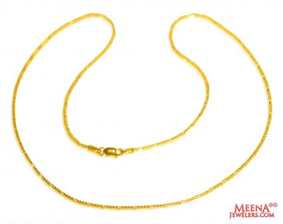 22Kt Yellow Gold Chain  ( Plain Gold Chains )