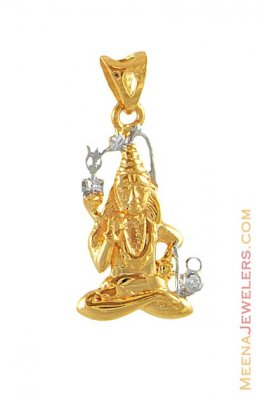 22Kt Gold Shiv Pendant ( Ganesh, Laxmi and other God Pendants )