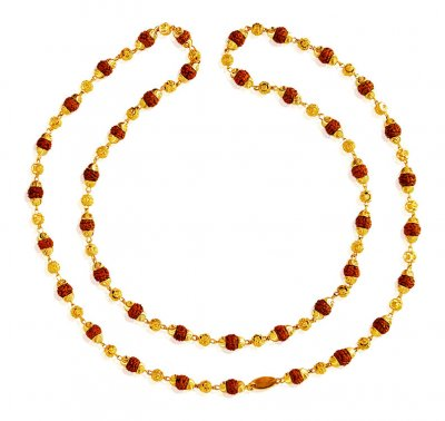 22 K Gold Rudraksh Mala 26In ( Men`s Gold Chains )