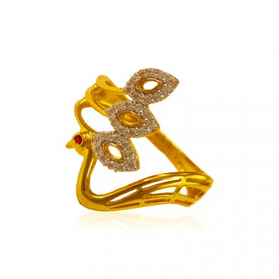 22 kt Gold Ring with stones ( Ladies Signity Rings )