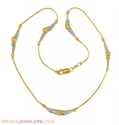 Gold Two Tone Fancy Chain ( 22Kt Gold Fancy Chains )