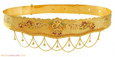 22K Gold Vaddanam (kids) ( Gold Waist Belt )