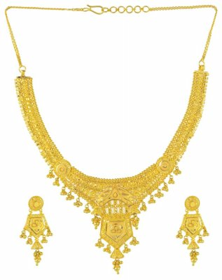 Gold Necklace and Earrings Set ( 22 Kt Gold Sets )