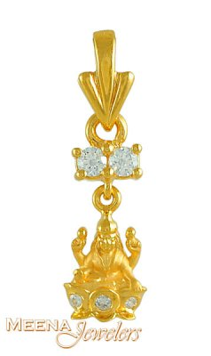 Goddess Laxmi Pendant in 22K Gold ( Ganesh, Laxmi and other God Pendants )