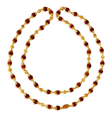 22kt Gold Rudraksh Mala ( Men`s Gold Chains )