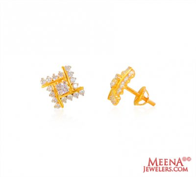 22K Gold Signity Earrings ( Signity Earrings )