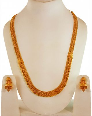 22 kt Gold Long Necklace Set ( 22 Kt Gold Sets )