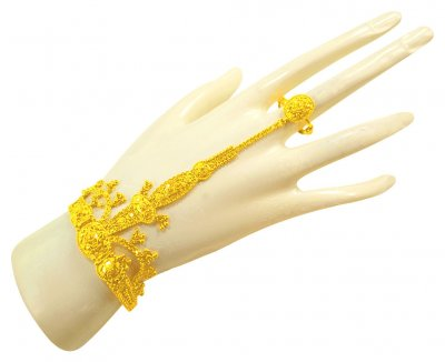 22 Karat Gold Panja Bracelet (1 PC) ( Ladies Bracelets )