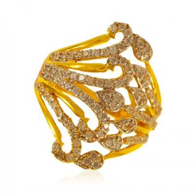 22k Gold fancy Indian Ring ( Ladies Signity Rings )