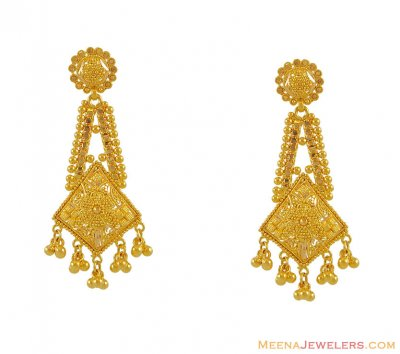 22K Gold Earrings ( Long Earrings )