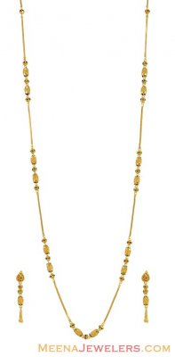 22Kt Gold Long Necklace Set ( Light Sets )