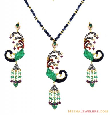 Nizam Pendant Set ( Diamond Victorian Jewelry )