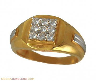 22k Mens Ring (Signity) ( Mens Signity Rings )